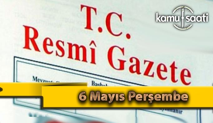6 Mayıs Perşembe 2021 Resmi Gazete Kararları