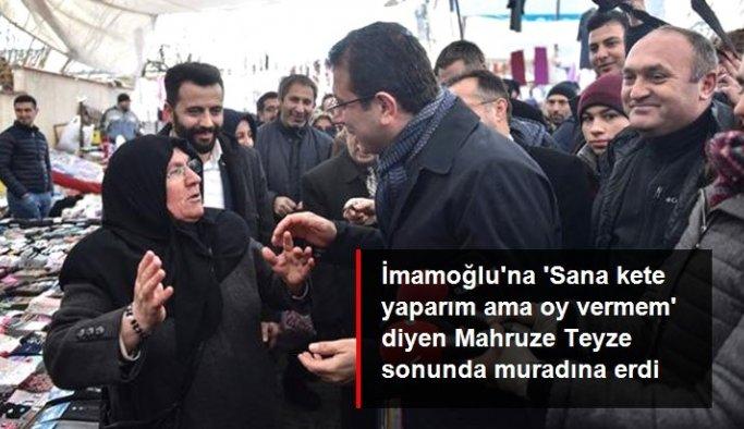 Cumhurbaşkanı Erdoğan, İmamoğlu'yla girdiği diyalogla gündem olan Mahruze Keleş'i ziyaret etti