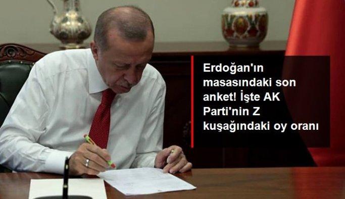 Erdoğan'ın masasındaki son anket! Z kuşağının yüzde 33'ü AK Parti'ye oy veriyor