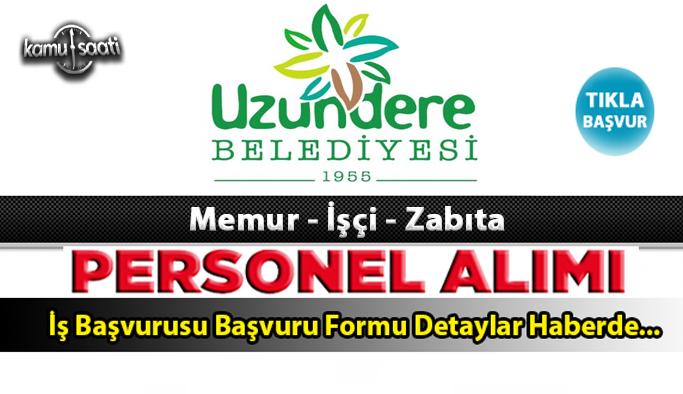 Erzurum Uzundere Belediyesi personel alımı 2021 Uzundere Belediyesi 2 İşçi Alacak