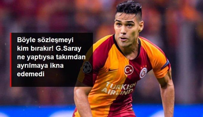 Galatasaray'da yönetim, Falcao'yu takımdan ayrılmaya ikna edemiyor