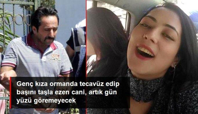 Genç kıza ormanda tecavüz edip başını taşla ezen caniye verilen ağırlaştırılmış müebbet hapis cezası onandı