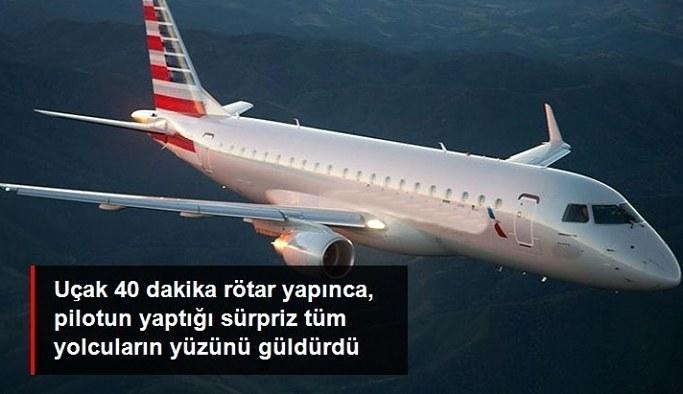 Hava koşulları nedeniyle uçuş 40 dakika ertelenince, pilot yolculara pizza ısmarladı