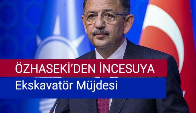 İncesu belediyesine Mehmet Özhasekıden müjde!