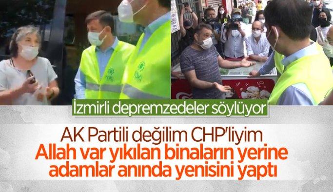 İzmir'de CHP'li vatandaşlar, Murat Kurum'a konutlardan dolayı teşekkür etti
