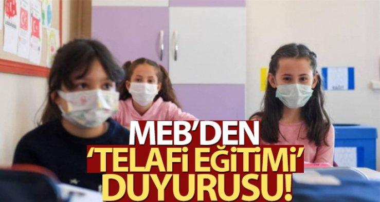MEB: 'Telafi eğitimlerine katılımda 'gönüllülük' esas'