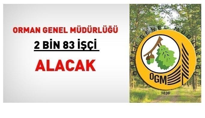 Orman Genel Müdürlüğü Kura ile 2.083 işçi alınacak: İşte il il kadrolar...