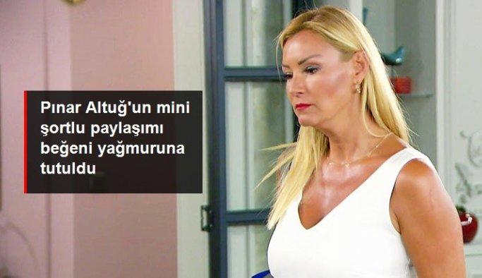 Pınar Altuğ'un mini şortlu paylaşımı beğeni yağmuruna tutuldu