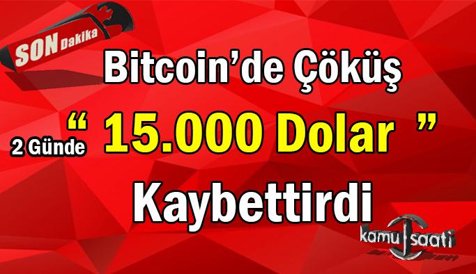 Son dakika... Bitcoin'de büyük çöküş! Kayıp yüzde 35'i aştı Paralar Pul Olmadan Çeresine Bakın