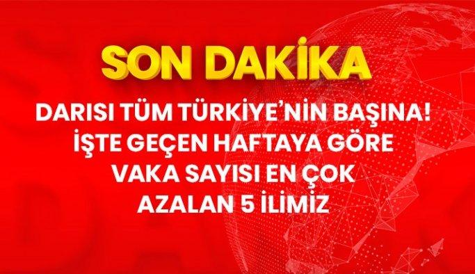 Son Dakika: Darısı tüm Türkiye'nin başına! İşte geçen haftaya göre vaka sayısı en çok azalan 5 ilimiz