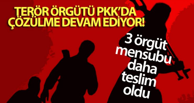 Terör örgütü PKK'da çözülme devam ediyor!