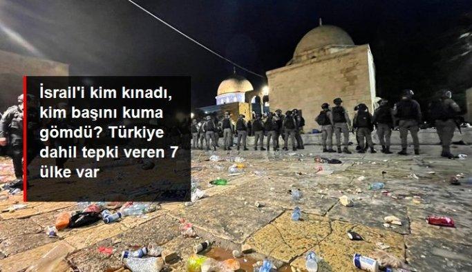 Türkiye dahil 7 ülke İsrail'in Mescid-i Aksa'ya yaptığı saldırıyı kınadı