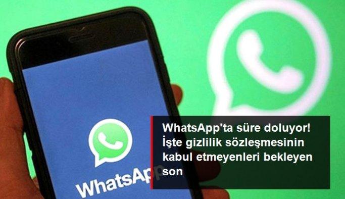 WhatsApp'ta gizlilik sözleşmesinin süresi doluyor! Hesaplar ağustosta silinecek