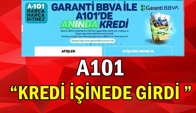 A101'de dikkat çeken 'Kredi' reklamı