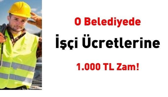 Ağrı Belediyesi işçilerin maaşına bin lira zam yaptı