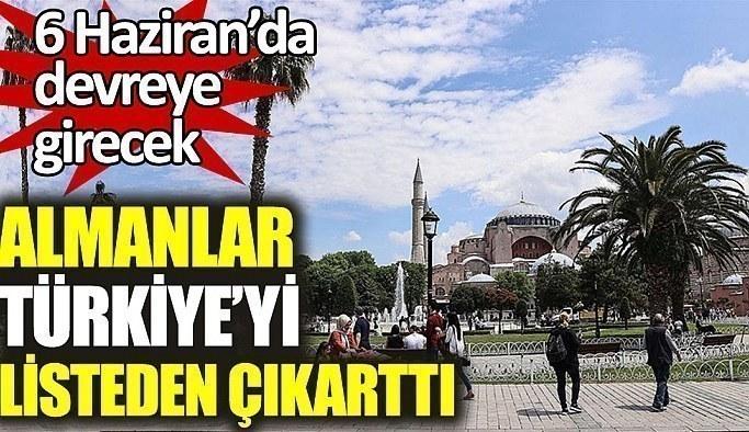 Almanya, Türkiye'yi 'yüksek riskli' bölgeler listesinden çıkardı