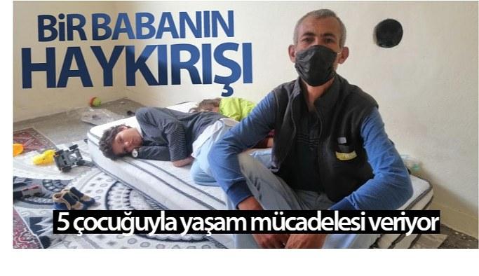 Kayseri'de Annelerinin terk ettiği 2'si engelli 5 çocuğuyla yaşam mücadelesi veriyor