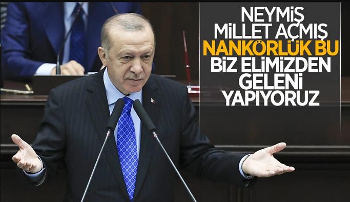 Cumhurbaşkanı Erdoğan'dan muhalefete tepki: Millet aç diyorlar