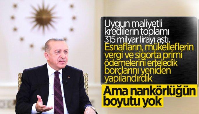Cumhurbaşkanı Erdoğan'dan canlı yayında  esnafa açıklamalar