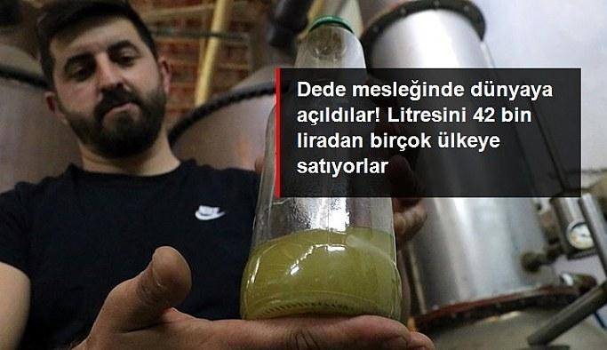 Dede mesleğini modern tesiste sürdürüyorlar! Gül yağının litresini 42 bin liradan ihraç ediyorlar