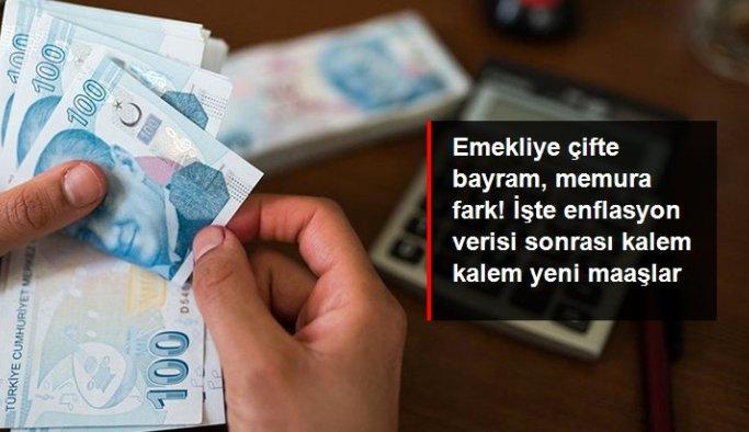 Enflasyon rakamlarının açıklanmasıyla maaş zamları netleşmeye başladı! Emekliye çifte bayram, memura fark geliyor