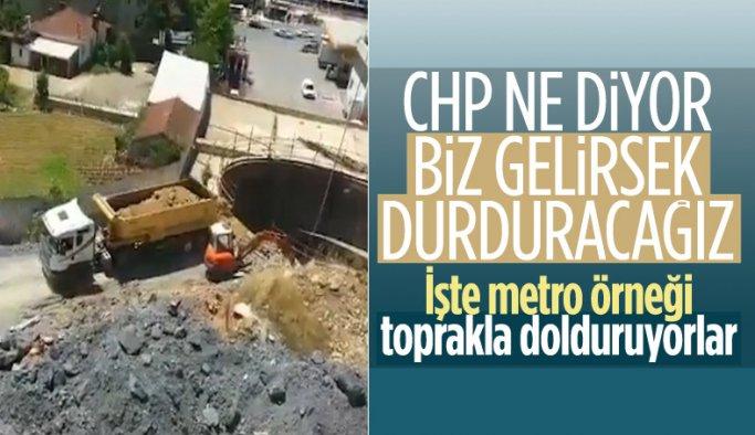 İBB, Yenidoğan Metro Hattı inşaatını hafriyatla kapatmayı sürdürüyor
