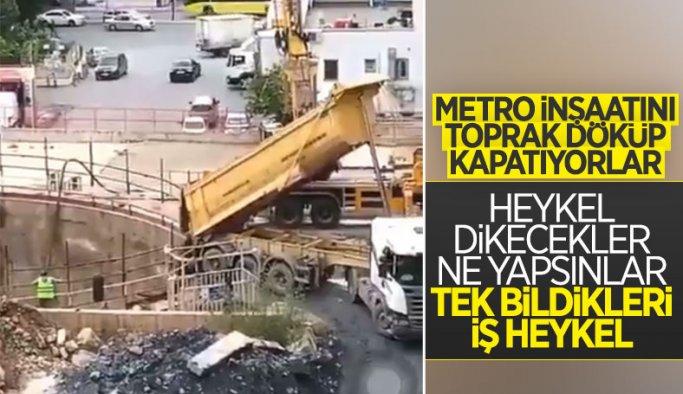 İmamoğlu talimat verdi İBB Sancaktepe'de metro yapımını durdurdu