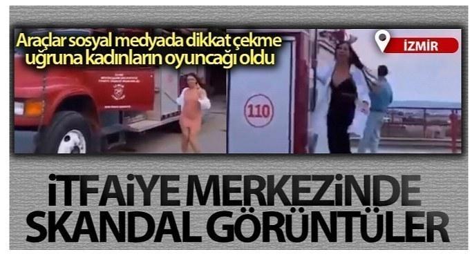 İzmir Büyükşehir itfaiye merkezinde skandal görüntüler
