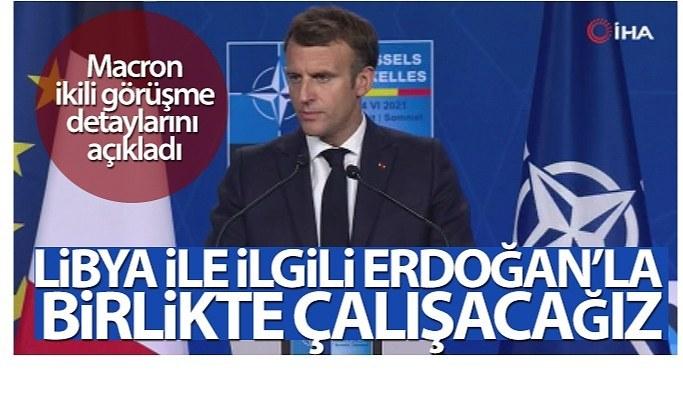 Macron'dan Cumhurbaşkanı Erdoğan ile yaptığı görüşmeye ilişkin açıklama!