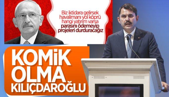 Murat Kurum'dan Kılıçdaroğlu'na Kanal İstanbul cevabı