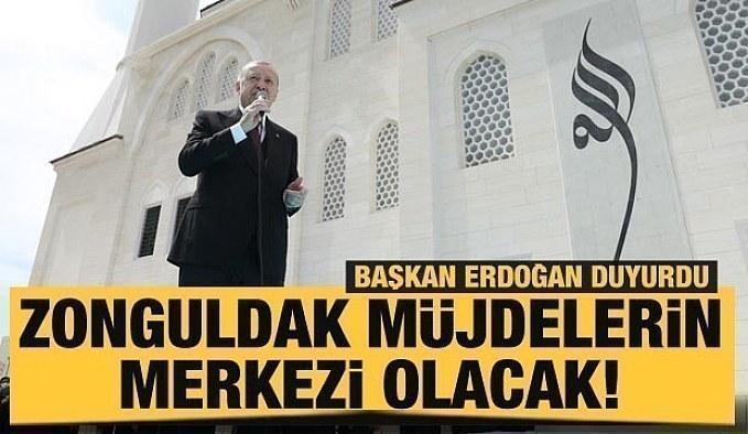 Son dakika: Cumhurbaşkanı Erdoğan: Zonguldak müjdelerin merkezi olacak!