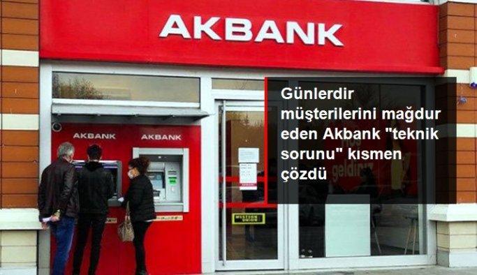Akbank sorunu çözdüldü! ATM'leri yeniden hizmet vermeye başladı
