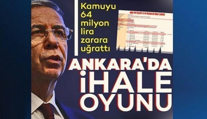 Ankara'da ihale oyunu: Kamuyu 64 milyon lira zarara uğrattı...