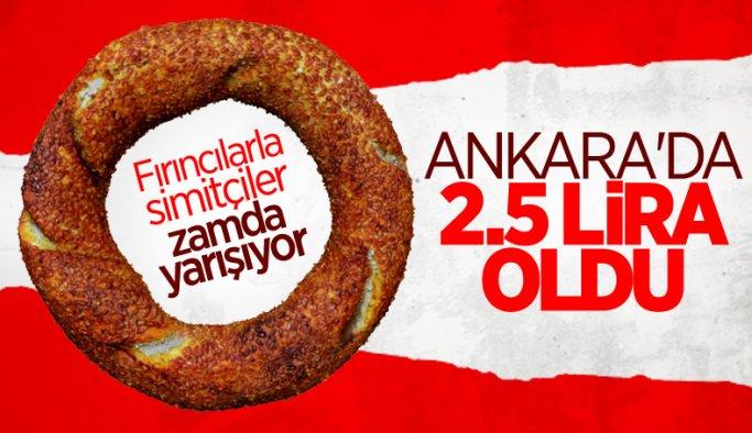 Ankara'da simit fiyatı 2,50 liraya çıktı