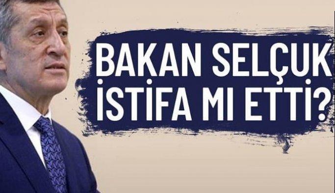 Bakanlıktan Ziya Selçuk'un istifa ettiği haberleriyle ilgili açıklama
