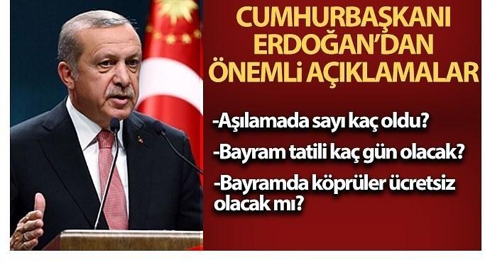 Bayram tatili kaç gün olacak? Cumhurbaşkanı Erdoğan açıkladı