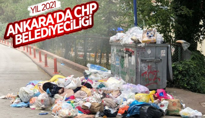 Çankaya'da sokaklar çöp yığınlarıyla doldu