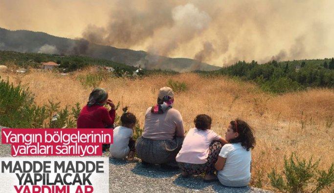 Cumhurbaşkanı Erdoğan: Yangın bölgelerine 50 milyon lira ödenek gönderildi