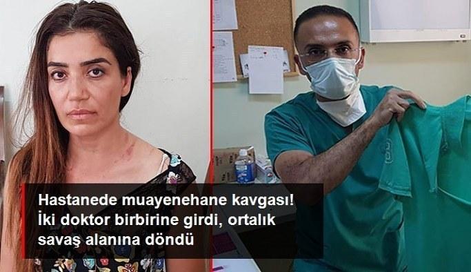Hastanede muayenehane kavgası! İki doktor birbirine girdi, ortalık savaş alanına döndü