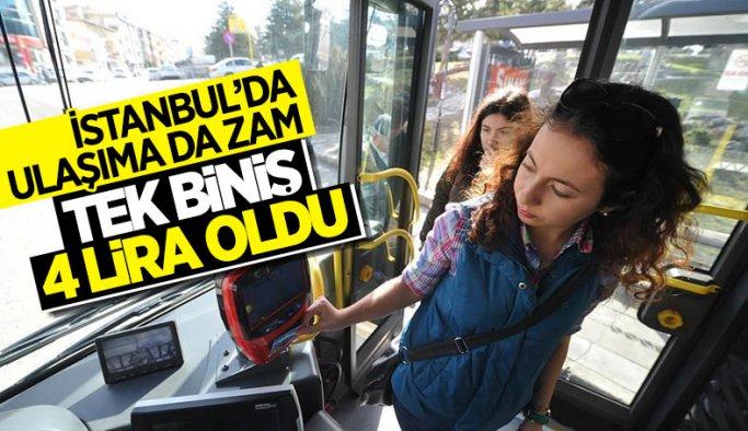 İstanbul'da toplu ulaşıma yüzde 15 zam yapıldı