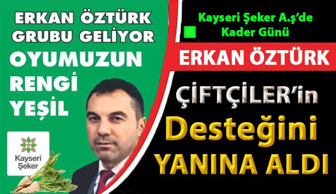 Kayseri Şeker A.ş. Seçimlerinde Artık Kader Günü Erkan Öztürk'e Çiftçilerden Tam Destek