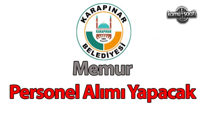 Konya İli Karapınar Belediyesi memur alımı yapacakc