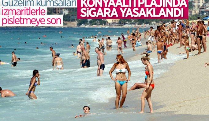 Konyaaltı Plajı'nda sigara içmek yasak