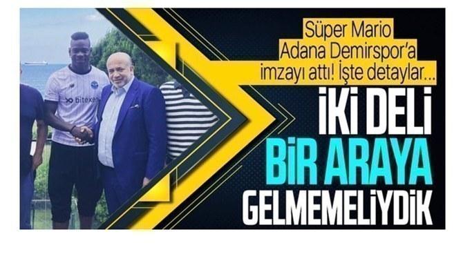 Mario Balotelli, Adana Demirspor için Türkiye'ye geldi