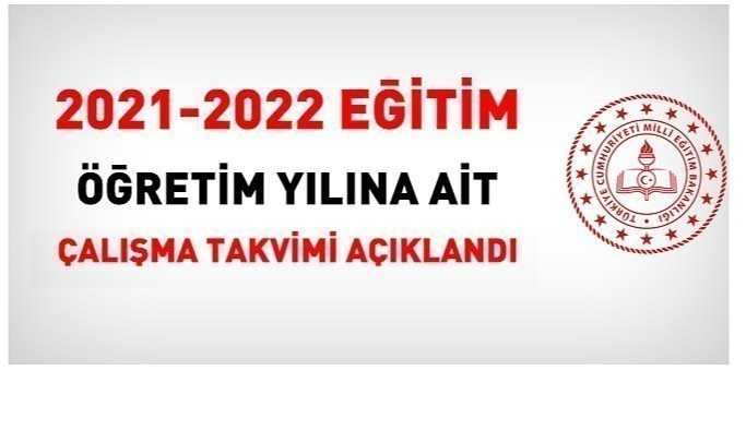MEB, 2021-2022 eğitim öğretim yılına ait çalışma takvimini açıkladı