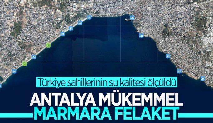 Su kalitesi ölçümlerinde Antalya'nın sahilleri liste birincisi