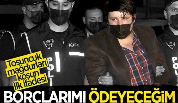 Tosuncuk lakaplı Mehmet Aydın'ın ilk ifadesi