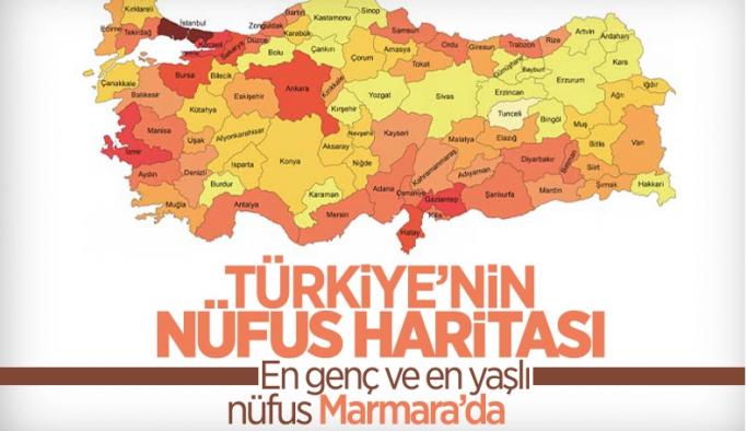Türkiye'nin nüfus haritası çıkartıldı