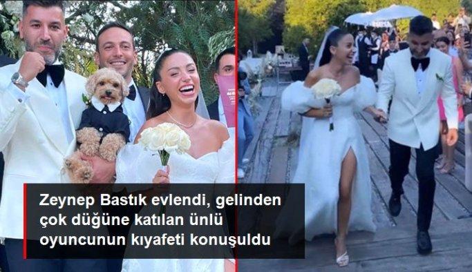 Zeynep Bastık evlendi, gelinden çok ünlü oyuncu Aslı Bekiroğlu'nun kıyafeti konuşuldu