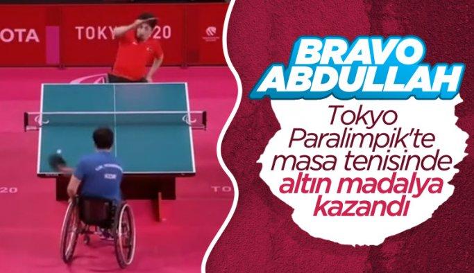 Abdullah Öztürk masa tenisinde altın madalya kazandı